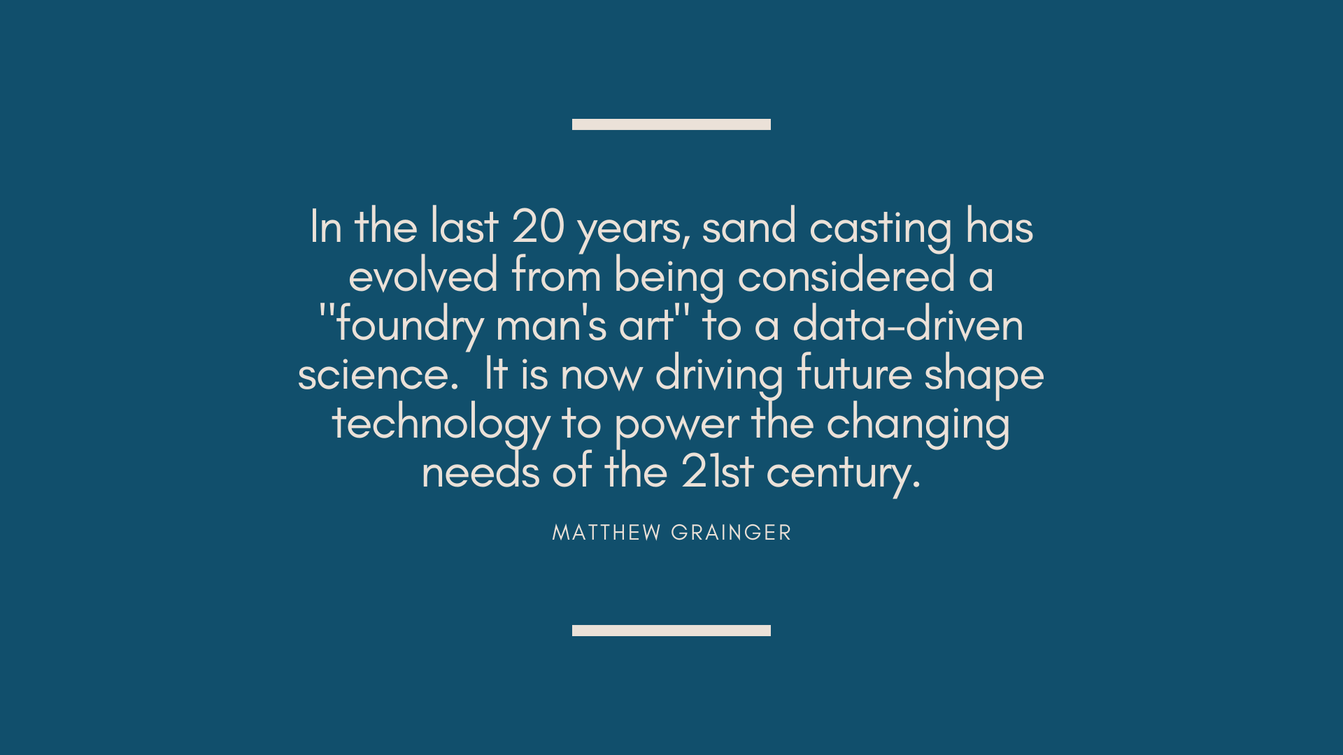 Casting science quote